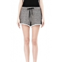 Casual Loose Elastic Drawstring Waist Shorts