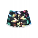 Hot Colorful Jellyfish Print Sports Shorts with Drawstring Waist