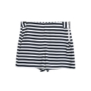 High Waist Side Zip Striped Loose Shorts