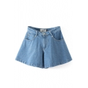 Vintage High Waist Flare Denim Shorts