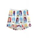 Cartoon Character Print High Waist Shorts
