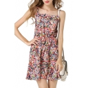Colorful Print Cami Short Dress