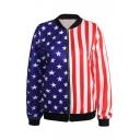 Stars&Stripes Right&Left Block Style Baseball Jacket