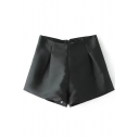 Slim Ruched Detail Flippy Shorts