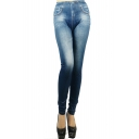 Plain Elastic Skinny Fitted Crop Jeggings