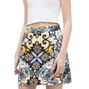 Gorgeous Tribal Pattern Print A-line Skirt