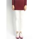 Pure Color Cotton Blends Skinny Leggings