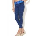 Blue Texture Pattern Fashion Jeans