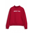 Abouy You Print Stand Collar Sweatshirt