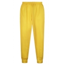High Elastic Waist Graffiti Emoji Print Loose Pants