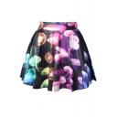 Jellyfish Print Skater Skirt