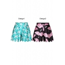 Special Animal Print Loose Casual Culottes
