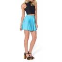 Plain Candy Color Pleated Skirt