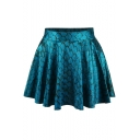 Tie Dye Scale Print High Waist Pleated Mini Skirt