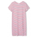 Stripe Short Sleeve Casual T-Shirt Dress
