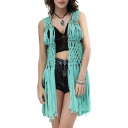 Tassel Weave Cutout Holiday Cover-Up