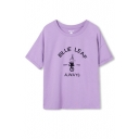 Letters Sports Casual Style Short Sleeve T-Shirt