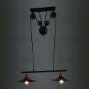 2 Light Adjustable Industrial Style Linear Chandelier