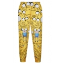High Waist Adventure Time Print Loose Pants