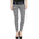 Black Texture Pattern Fashion Jeans