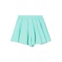 Plain Sports Style Cotton Culottes
