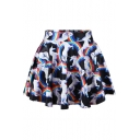 3D Unicorn Print Mini Skirt