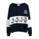 American Football Dog Print Sweatshirt