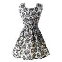 Sleeveless Round Neck  Tea Dress