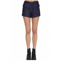Plain Low Waist Zip Back Tailored Shorts