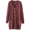 Laid Back Mix Color Single Breast Cardigan