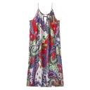 Tribal Floral Print Cami Slip Dress