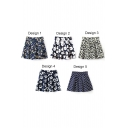 Newly Fresh Print A-Line Mini Skirt