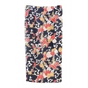 Floral Print Slit Back High Waist Pencil Midi Skirt