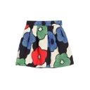 Floral Print Zip Back A-Line Mini Skirt