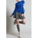 Plain Suede Belt Waist A-Line Mini Skirt