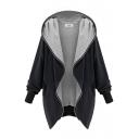 Plain Lapel Long Sleeve Zipper Long Coat