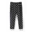 Polka Dot Zip Fly Lace Ankle Pants