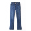 Zip Fly Single Button Jeans