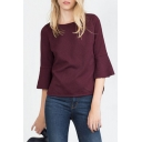 Half Sleeve Round Neck Plain Tee