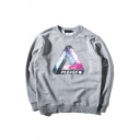 Galaxy Letter Print Long Sleeve Sweatshirt