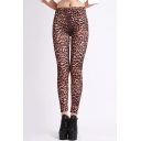 Leopard Print High Waist Pencil Leggings