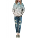 Laid Back Double Pocket Seawater Print Hoodie