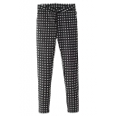 Black Plaid Cigarette Zipper Fly Long Pants