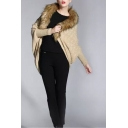 Faux Fur Long Sleeve Open Front Plain Cardigan