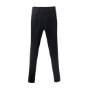 Elastic Waist Skinny Washed Black Velvet Plus Jeans