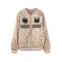 Embroidery Long Sleeve Stripe Trims Jacket