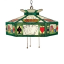 Pool Table Used Pendant Lighting Stained Glass One-light in Tiffany Style