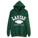 Hooded Letter Print Long Sleeve Sweatshirt