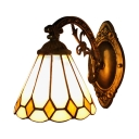 Downbridge Bronze Finish Mini Tiffany Bathroom Wall Lamp