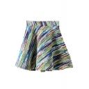A-Line Mini Elastic Ombre Skirt